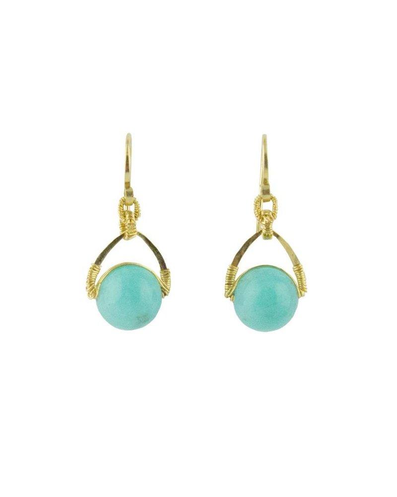 Dana Kellin Fashion Amazonite Drop Earrings