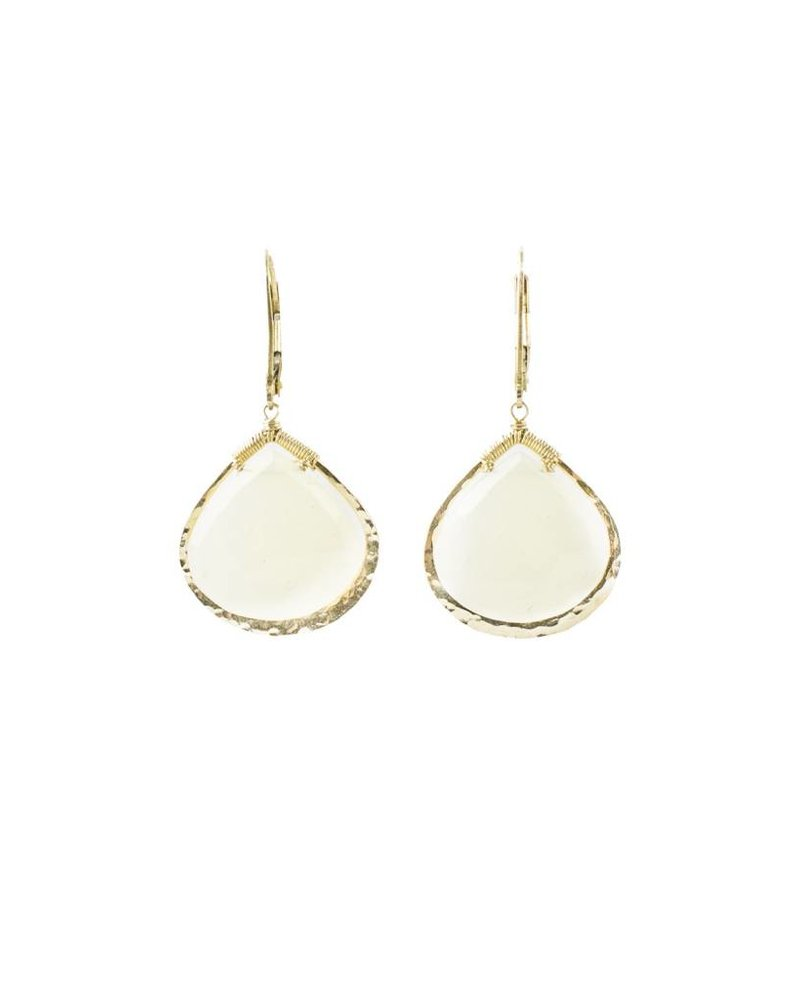 Dana Kellin Fashion White Calcite Earrings