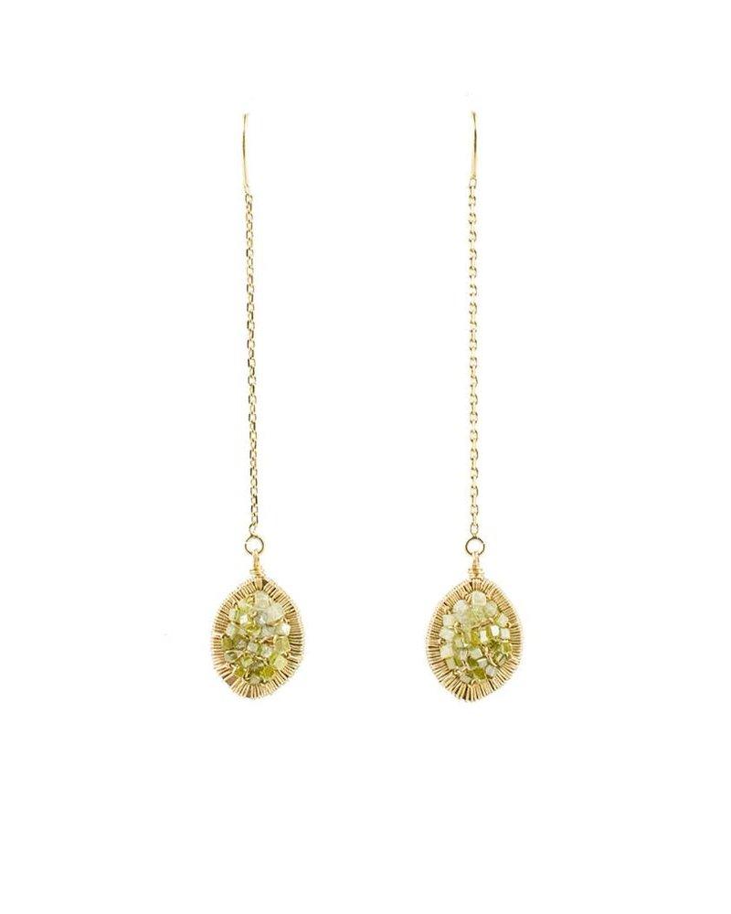 Dana Kellin Fine Olive Ombre Diamond Drop Earrings