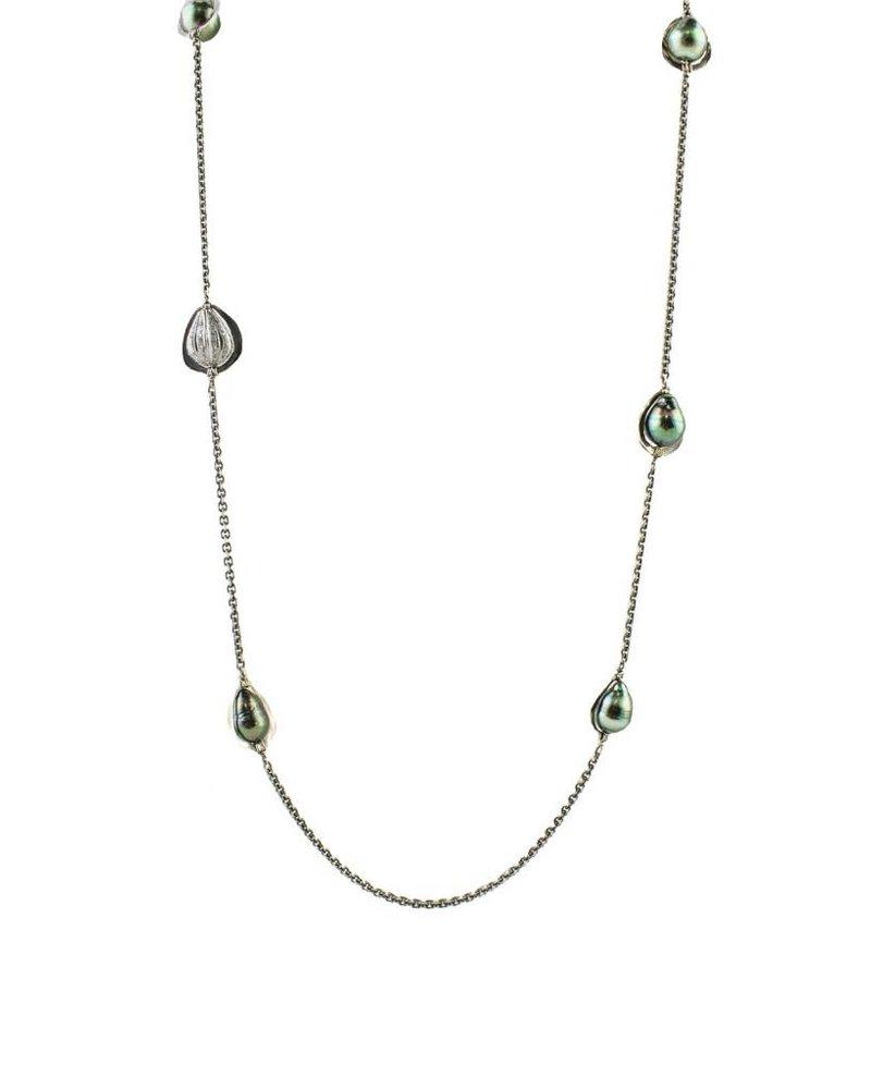 Dana Kellin Fine Tahitian Pearl and Diamond Necklace