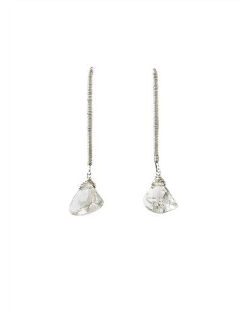 Dana Kellin Fashion Silver and Quartz Earrings