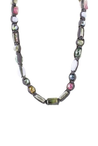 Beth Orduna Design Beaded Tourmaline Mix Necklace