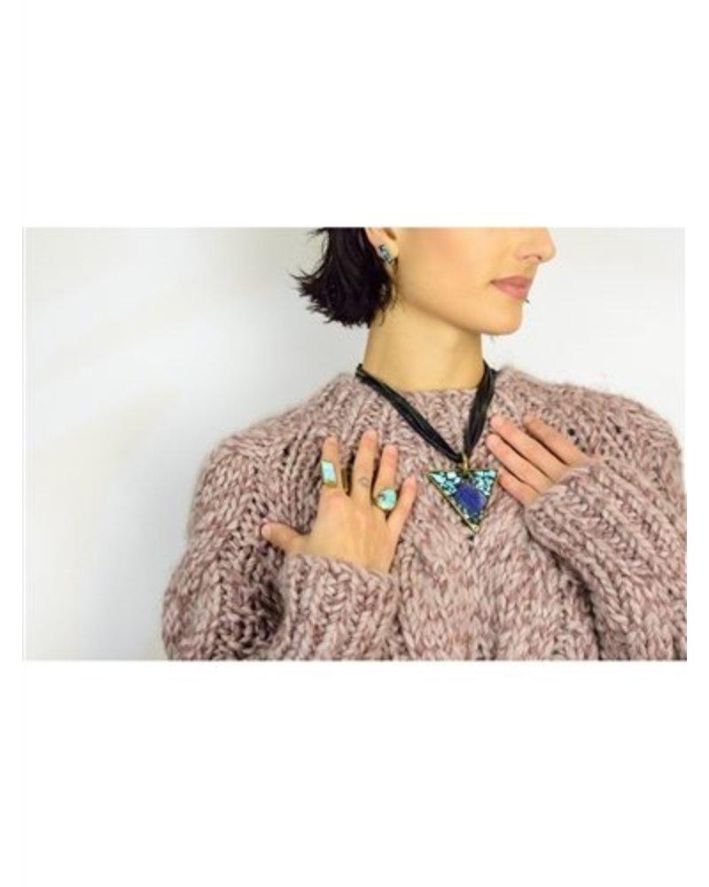Beth Orduna Design Black Mosaic Triangle Necklace