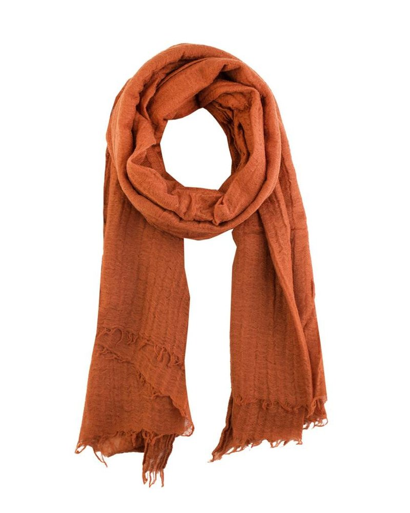 Destin Iris Stola Scarf Brick Orange