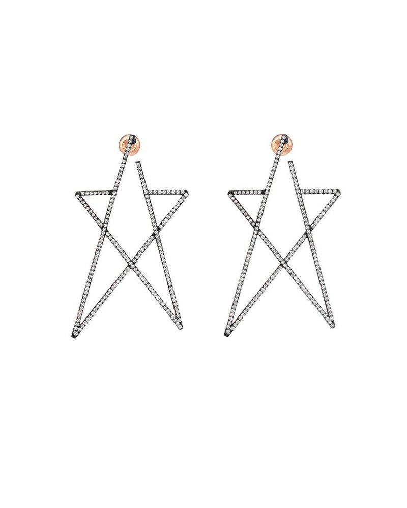 KISMET Struck Doodle Star Full Diamond Maxi Earring