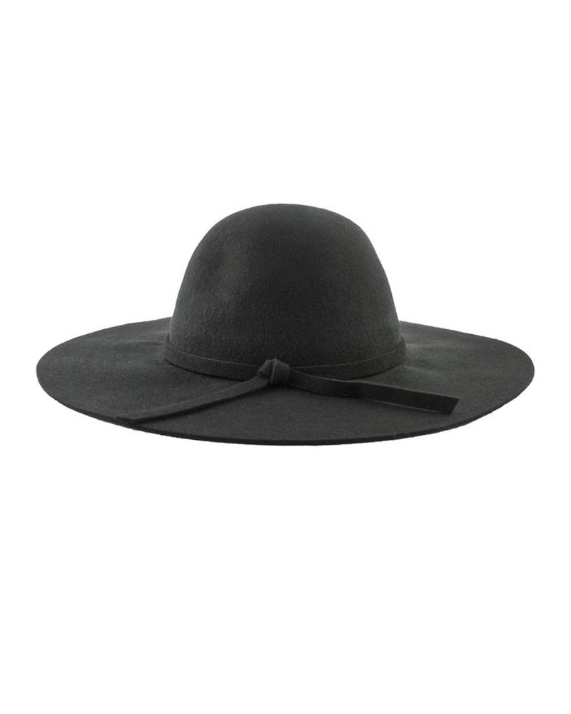Brooklyn Hat Co. Steph Felt Floppy Hat Black