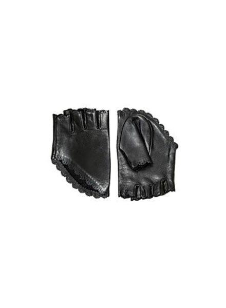 Catherine Osti Clothilde Leather Mittens Black
