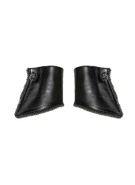 Catherine Osti Jane Beaded Leather Cuffs Black