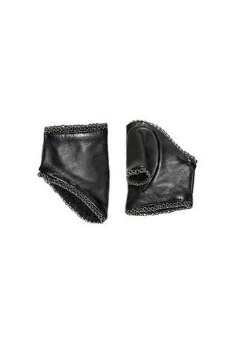 Catherine Osti Jane Beaded Leather Mittens Black