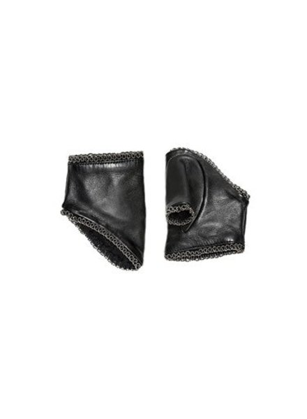 Catherine Osti Jane Beaded Leather Mittens Black
