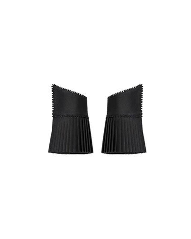 Catherine Osti Veronique Pleated Cuffs Black