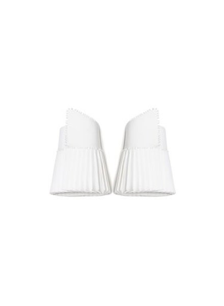 Catherine Osti Veronique Pleated Cuffs White
