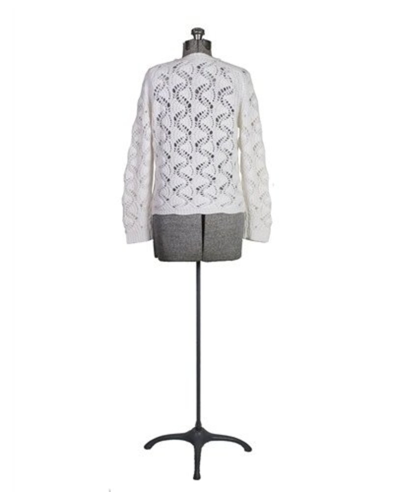 Inhabit Cashmere Luxe Lace Crew Ivory