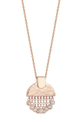 KISMET Le Soleil Tassels Small Necklace White Diamond