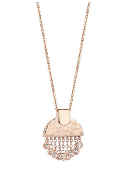 KISMET Le Soleil Tassels Small Necklace White Diamond
