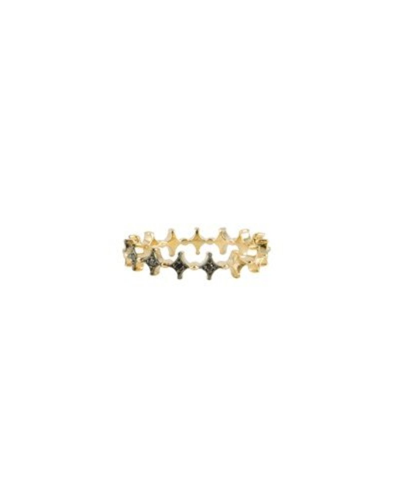 KISMET Black Diamond Crown Ring