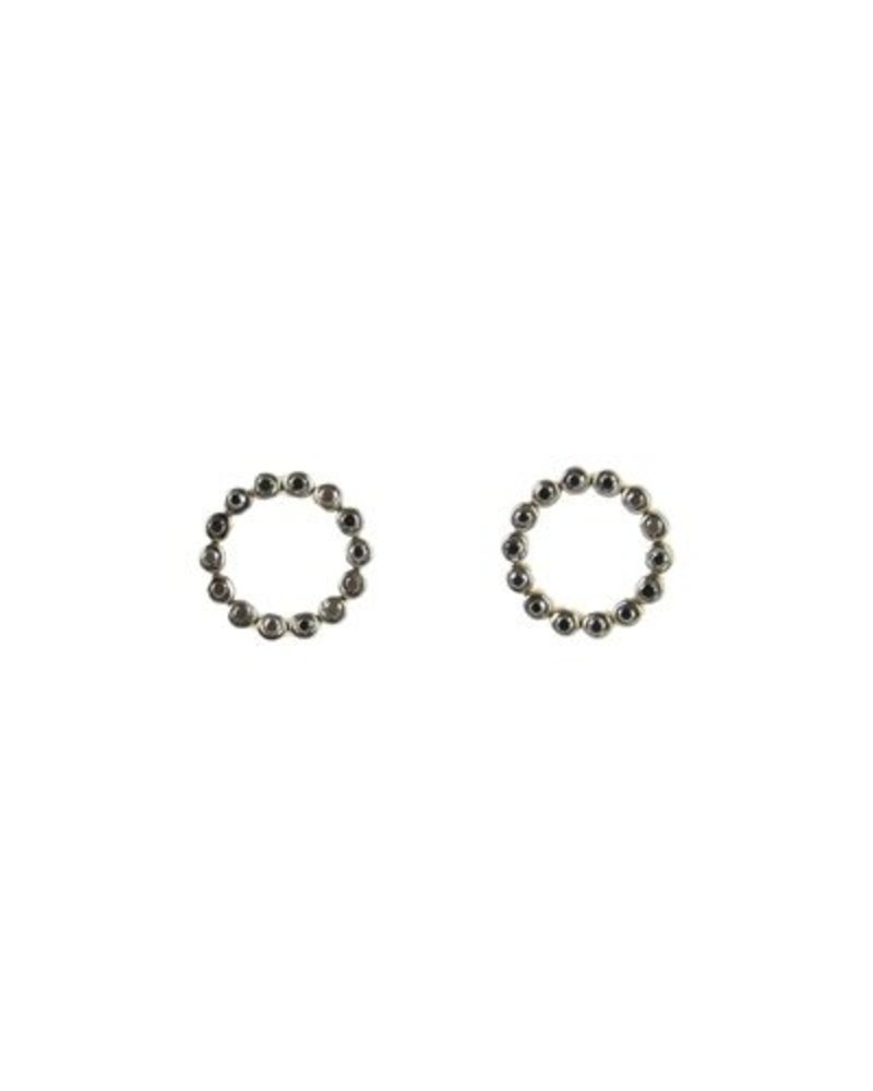 circle detail her satin open earrings small for stud