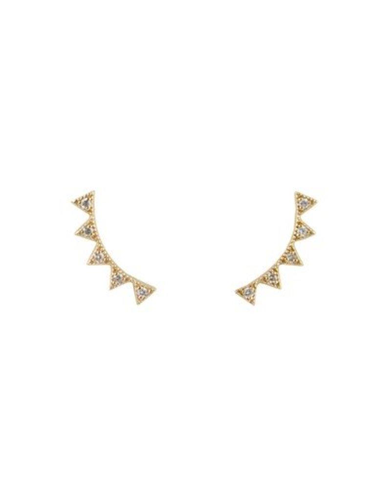 KISMET White Diamond Crown Ear Cuffs