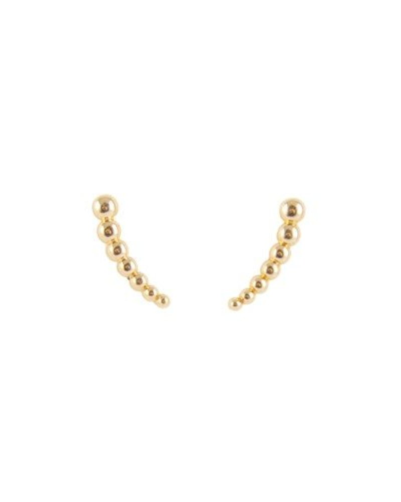 KISMET Long Gold Beaded Ear Cuffs
