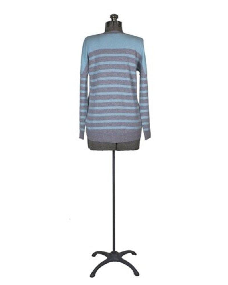 Kokun Stripe Cashmere Pullover