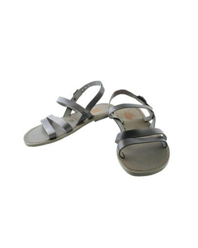 Local Kaja Leather Sandals Grey