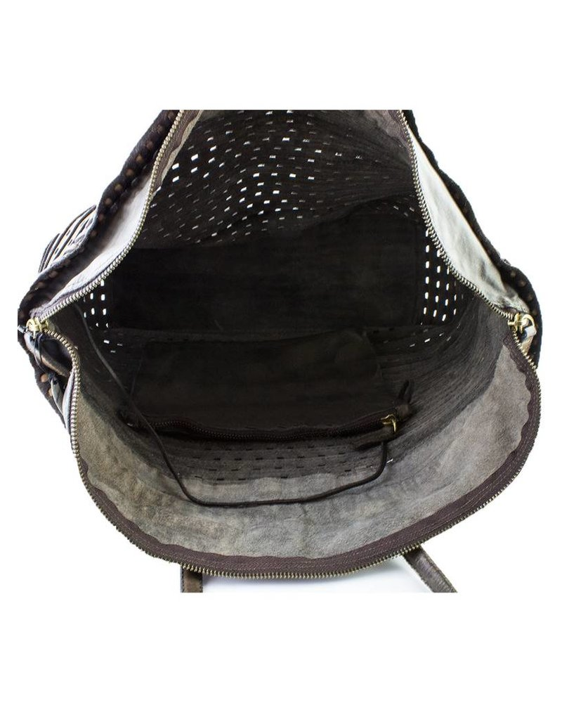 Majo STextured Leather Bag