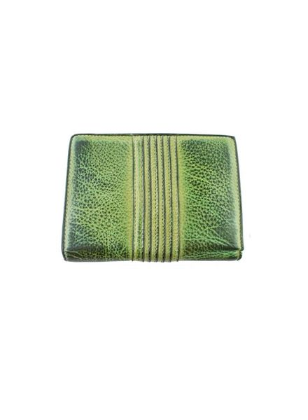 Majo Textured Leather Purse Green Tropical