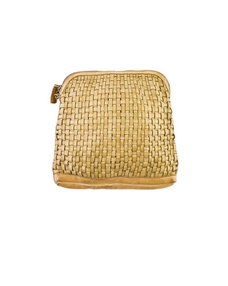 Majo Textured Leather Bag Sand
