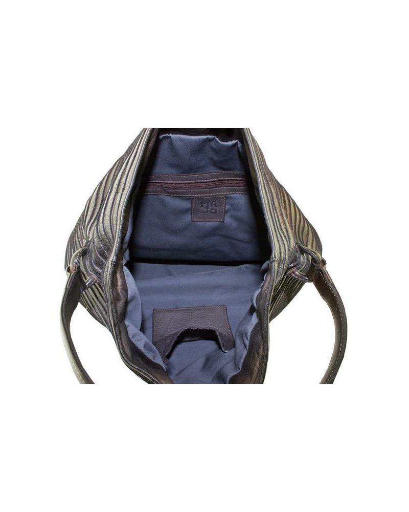 Majo Textured Leather Bag Chocolate