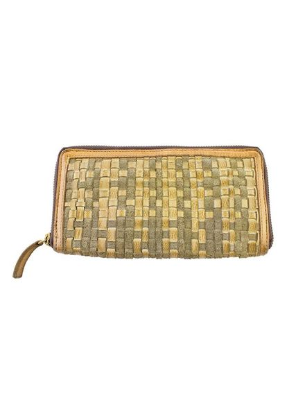 Majo Textured Leather Wallet Sand