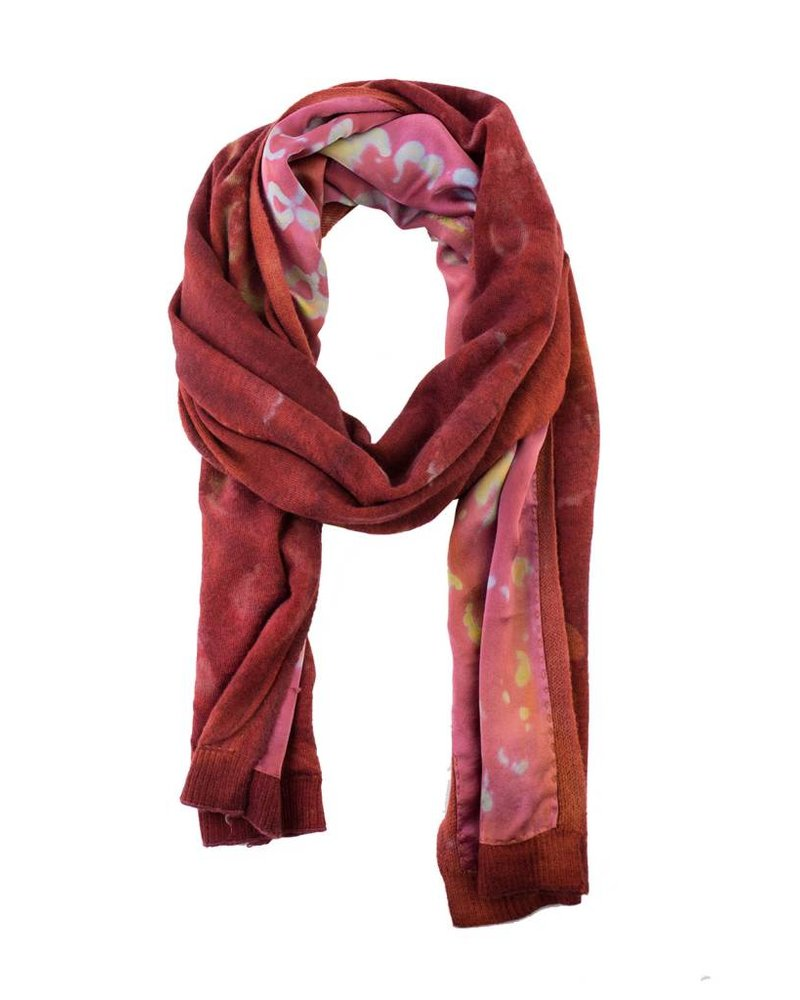 MA+CH Silk Backed Scarf Antique Brick