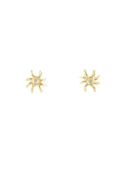 Victoria Cunningham 14k Diamond Spider Earrings