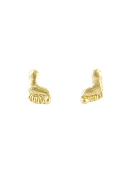 Victoria Cunningham 14k Gold Foot Earrings