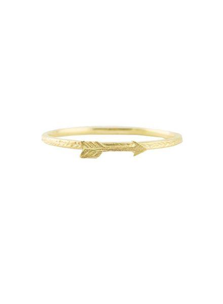 Victoria Cunningham 14k Gold Arrow Ring