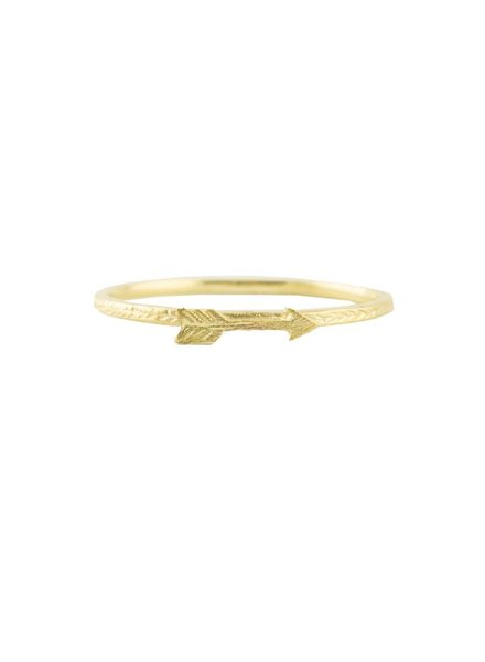 Victoria Cunningham 14k Gold Arrow Ring
