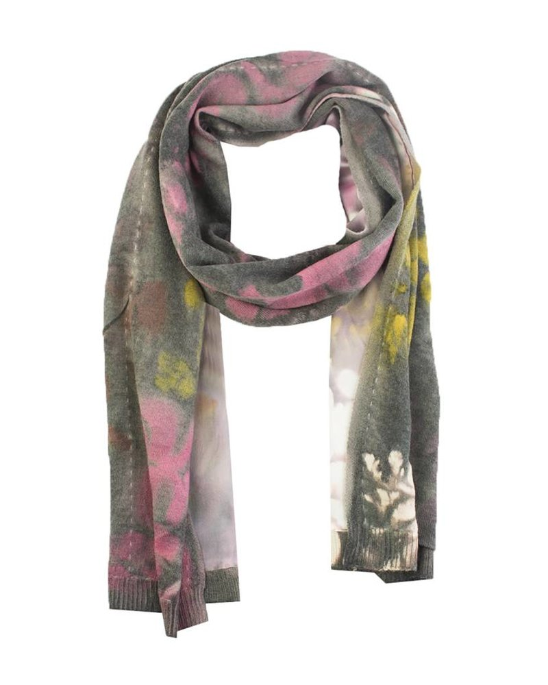 MA+CH Silk Backed Scarf Falling Taupe