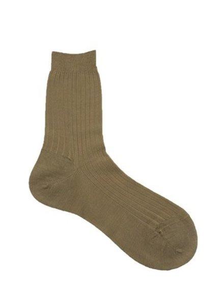Pantherella Rose Wool Socks Dark Camel