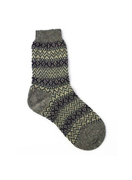 Pantherella Rosedale Fairisle Socks Granite