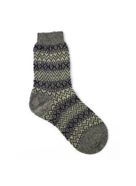 Pantherella Rosedale Fairisle Socks Granite