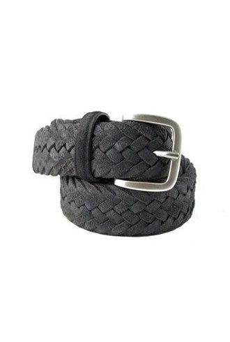 Orciani Winter Suede Belt Anthracite