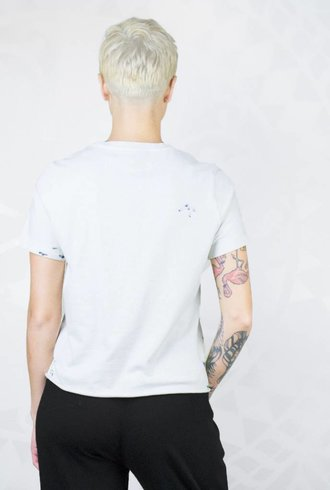 Raquel Allegra Boy Tee Paint Dirty White