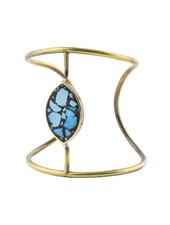 Beth Orduna Design Marquee Turquoise Mosaic Brass Cuff