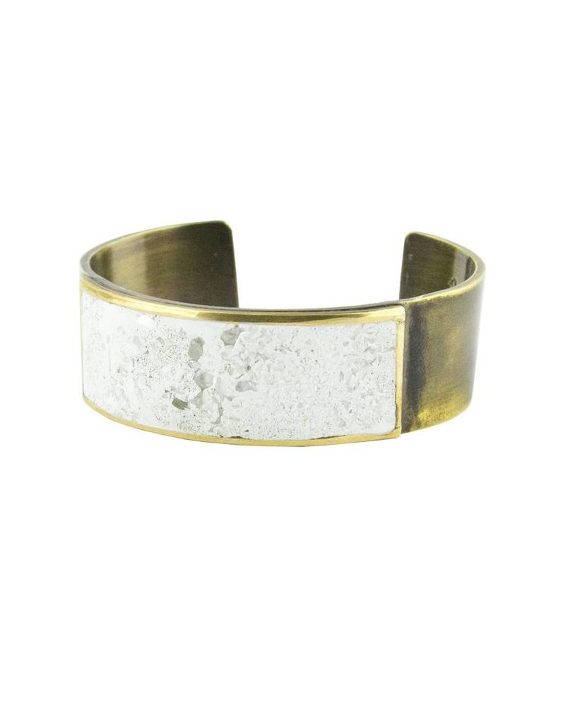 Beth Orduna Design White Mosaic Thin Brass Cuff