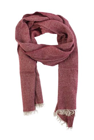 Destin Tweed Riga Scarf Beige/Red