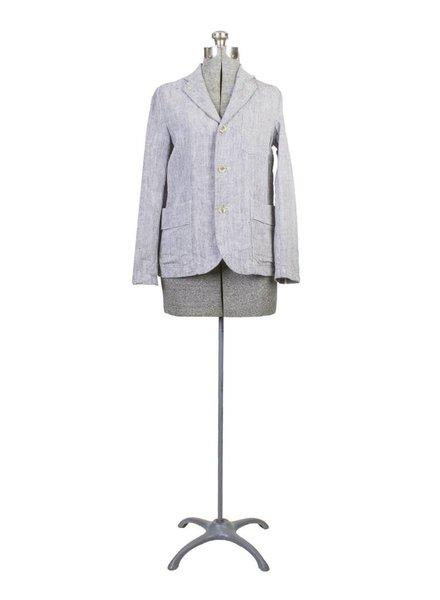 Vlas Blomme Three Button Linen Jacket Melange
