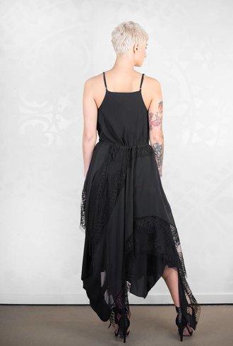 Gary Graham Overhead Lace Dress Black