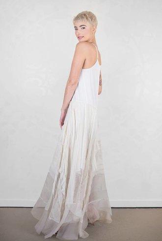 Gary Graham Ruffled Organza Crinoline Dress Antique