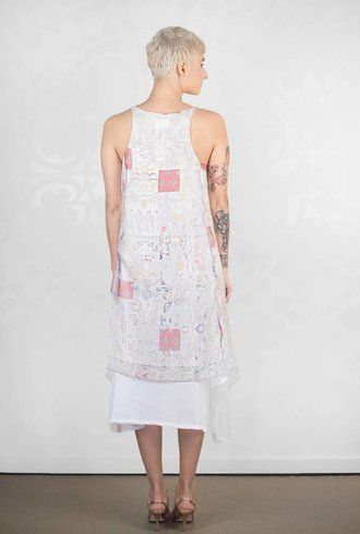 Gary Graham Printed Silk Tank Dress Kesa