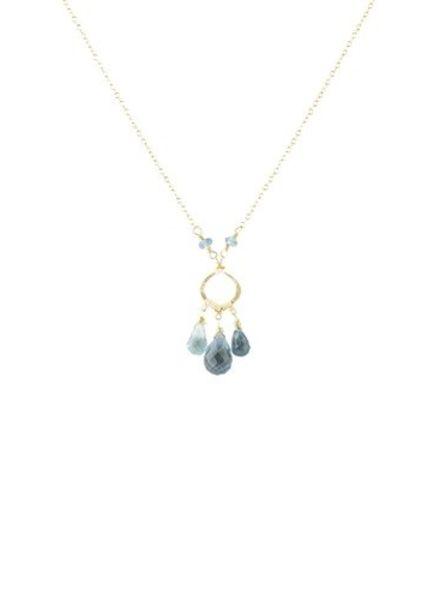 Dana Kellin Fashion Blue Topaz and Quartz Necklace