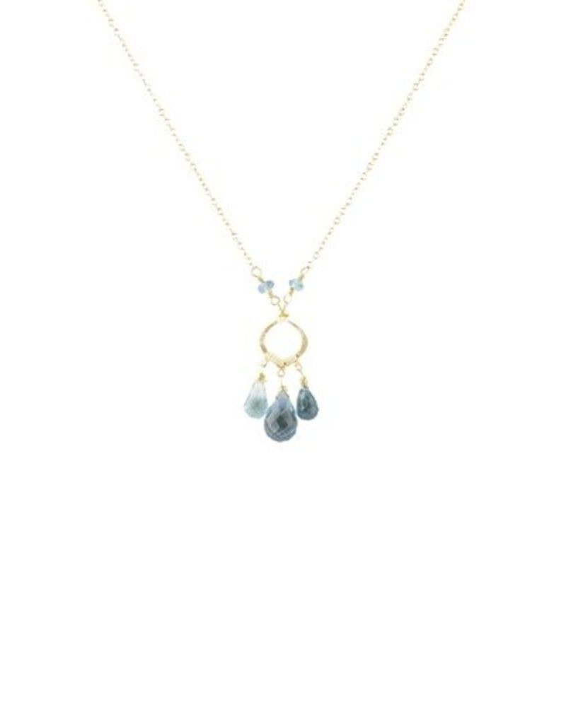 Dana Kellin Fashion Blue Topaz and Quartz Necklace